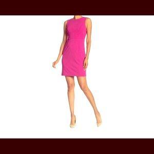 Pink Scuba Cut Out short cocktail dress